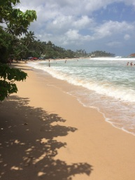 The beautiful Mirissa beach